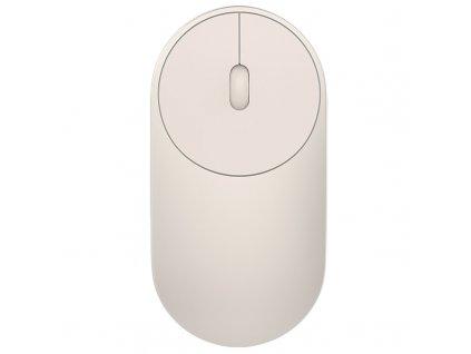 Myš Xiaomi Mi Portable / laserová / 3 tlačítka / 1200dpi - zlatá