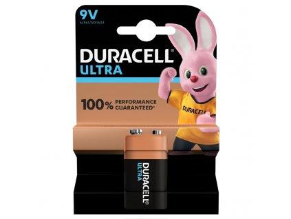 Baterie alkalická Duracell Ultra 9V, blistr 1ks