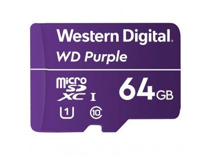 Paměťová karta Western Digital Purple microSDXC 64GB UHS-I U1 (100R/60W)