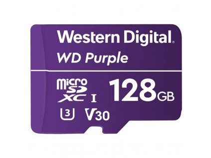 Paměťová karta Western Digital Purple microSDXC 128GB UHS-3 U3 V30 (100R/60W)