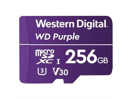 Paměťová karta Western Digital Purple microSDXC 256GB UHS-3 U3 V30 (100R/60W)