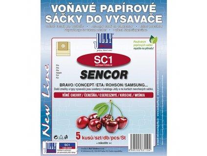Sáčky do vysavače SC 1 Sencor (5 ks) - cherry