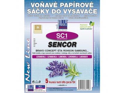 Sáčky do vysavače SC 1 Sencor (5 ks) - levandule