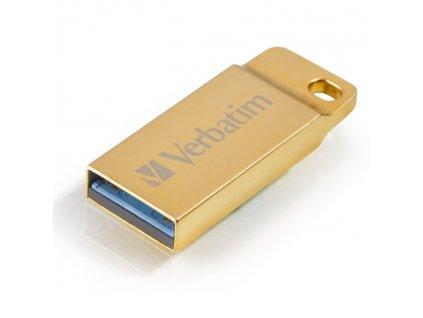 Flash USB Verbatim Store 'n' Go Metal Executive 64GB USB 3.0 - zlatý
