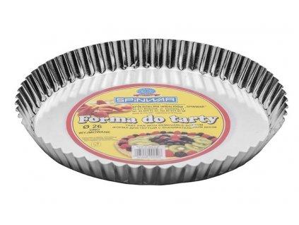 Pocínovaná forma s odnímatelným dnem na koláč 26 cm