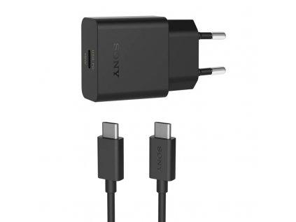 Nabíječka do sítě Sony UCH32C, USB-C PD, 18W, 1m - černá