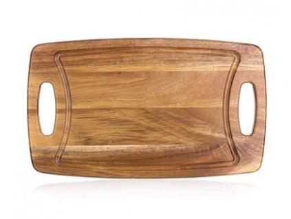 BANQUET Prkénko krájecí dřevěné PREMIUM Dark Brown 42 x 25 x 1,8 cm