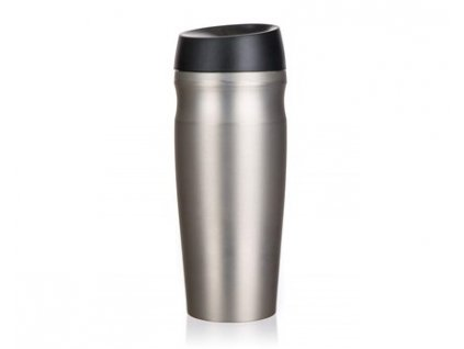 Termohrnek cestovní SUPER VALUE 420 ml, stříbrný