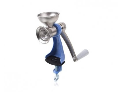 Kovový mlýnek na mák Banquet modrý 25 cm