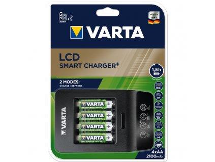 Nabíječka Varta LCD Smart Charger+ 4x AA 2100mAh