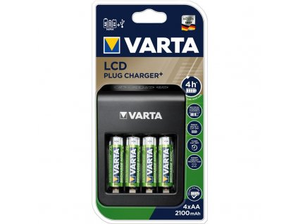 Nabíječka Varta LCD Plug Charger+ 4x AA 2100mAh