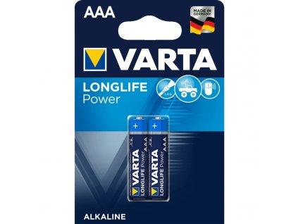Baterie alkalická Varta Longlife Power AAA, LR03, blistr 2ks