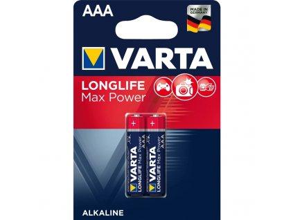 Baterie alkalická Varta Longlife Max Power AAA, LR03, blistr 2ks