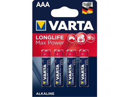 Baterie alkalická Varta Longlife Max Power AAA, LR03, blistr 4ks