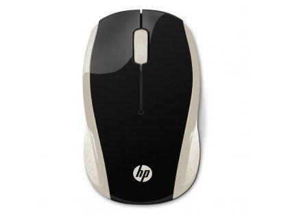 Myš HP 200 / optická/ 3 tlačítka / 1000DPI - černá/zlatá