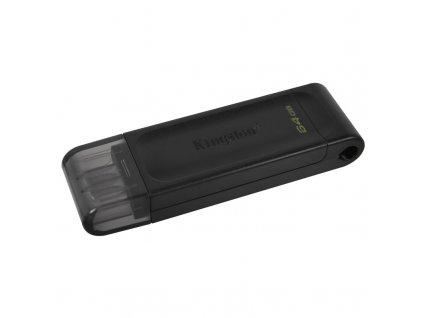 Flash USB Kingston DataTraveler 70 64GB, USB-C - černý
