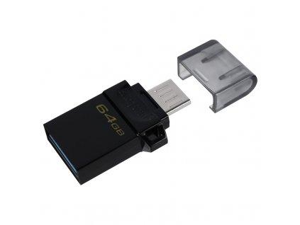 Flash USB Kingston DataTraveler microDuo3 Gen2 64GB - černý