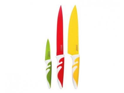BANQUET Sada nožů s nepřilnavým povrchem SYMBIO NEW Colore, 3 ks