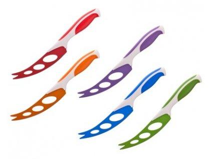 BANQUET Nůž na sýr s nepřilnavým povrchem SYMBIO NEW 21,5 cm, mix barev