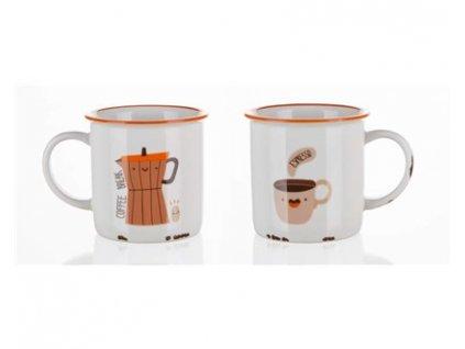 BANQUET Hrnek keramický COFFEE ICONS 310 ml, Coffee Break