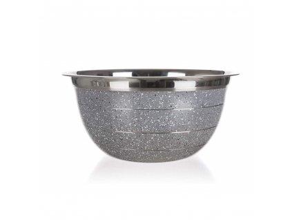 BANQUET Mísa nerezová GRANITE Grey 16,5 x 8 cm