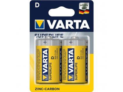 Baterie zinkouhlíková Varta Superlife D, R20, blistr 2ks