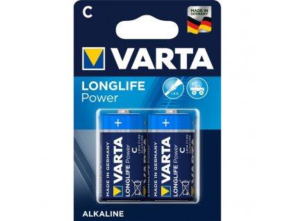 Baterie alkalická Varta Longlife Power C, LR14, blistr 2ks