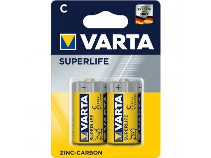 Baterie zinkouhlíková Varta Superlife C, R14, blistr 2ks