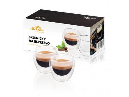 Skleničky na espresso ETA 4181 91000, 80 ml, 2ks