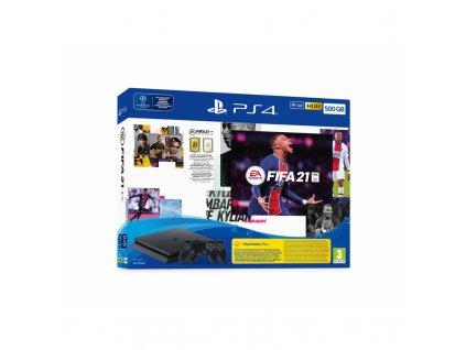 Herní konzole Sony PlayStation 4 500 GB + FIFA 21 + 2x ovladač