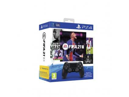 Gamepad Sony Dual Shock 4 pro PS4 v2 - černý + FIFA 21