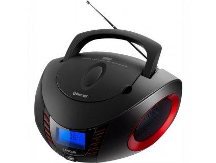 Radiopřijímač s CD Sencor SPT 3600 BR, černo-červený