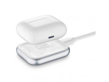 Bezdrátová nabíječka CellularLine Power Base pro Apple Airpods/Airpods Pro - bílá