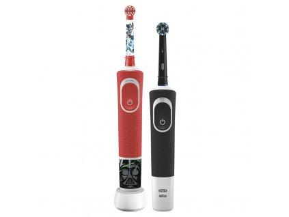 Set zubních kartáčků Oral-B Vitality 100 D100 Cross Action Black + D100 Star Wars