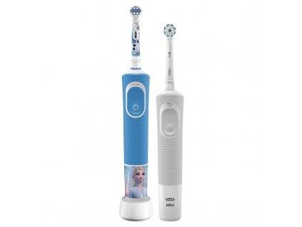 Set zubních kartáčků Oral-B Vitality 100 D100 Vitality Sensi White + D100 Kids Frozen II