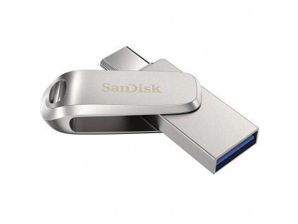 Flash USB Sandisk Ultra Dual Luxe 64GB USB/USB-C - stříbrný
