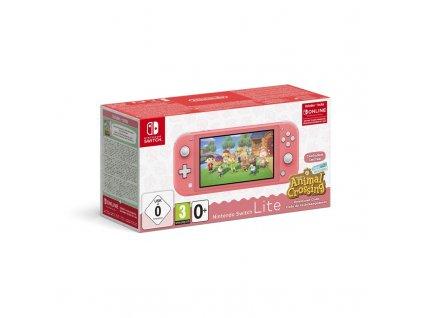 Herní konzole Nintendo Switch Lite + Animal Crossing: New Horizons + Nintendo SWITCH online předplatné na 3 měsíce - růžová