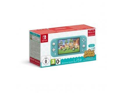 Herní konzole Nintendo Switch Lite + Animal Crossing: New Horizons + Nintendo SWITCH online předplatné na 3 měsíce - modrá
