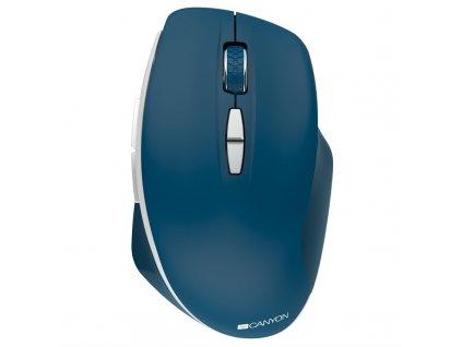 Myš Canyon MW-21 / optická/ 7 tlačítek / 1600DPI - modrá