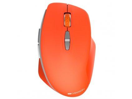 Myš Canyon MW-21 / optická/ 7 tlačítek / 1600DPI - oranžová