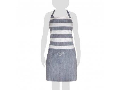 BANQUET Zástěra kuchyňská s kapsou BEST CHEF 75 x 80 cm, šedá