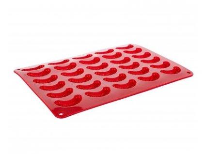 BANQUET Forma na rohlíčky silikonová CULINARIA 35 x 25 x 1,3 cm, červená