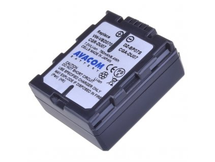 Baterie Avacom Panasonic CGA-DU07/CGR-DU07/ VW-VBD07, Hitachi DZ-BP07S Li-Ion 7.2V 750mAh 5.4Wh