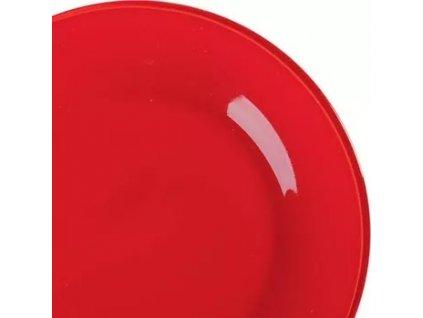 BANQUET Talíř skleněný mělký ROSSO 25,4 cm