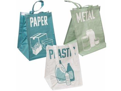 Taška na tříděný odpad 3 ks