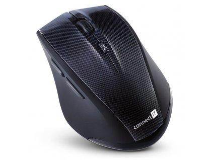 Myš Connect IT Carbon CI-186 / optická/ 5 tlačítek/ 1600DPI - černá