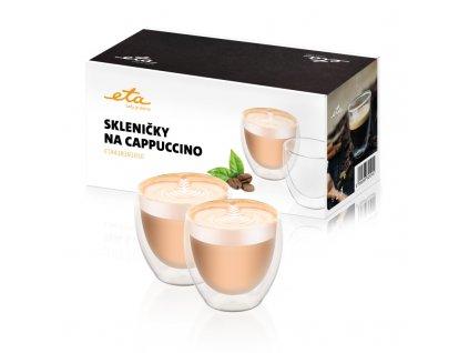 Skleničky na cappuccino ETA 4181 91010, 250 ml, 2ks