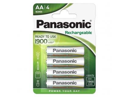 Baterie nabíjecí Panasonic Ready to use AA, HR06, 1900mAh, Ni-MH, blistr 4ks