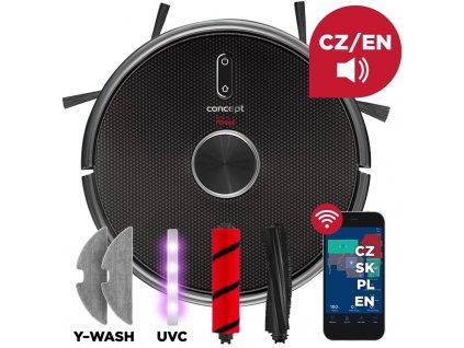 Vysavač robotický Concept VR3210 3v1 REAL FORCE Laser UVC Y-wash