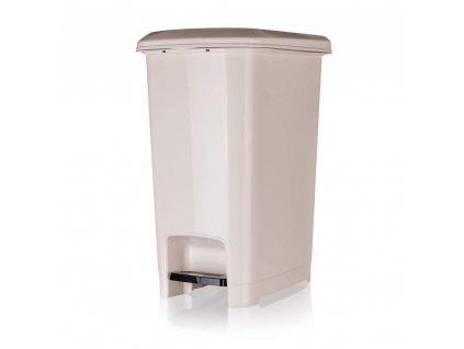 Koš odpadkový nášlapný STEP 25 l, krémový